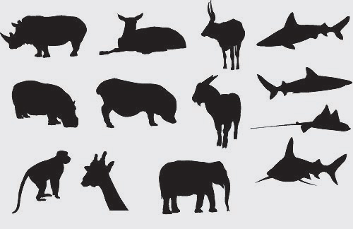 silhouettes of animals. Animal Silhouettes 1