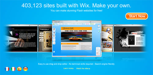 Build flash websites with wix
