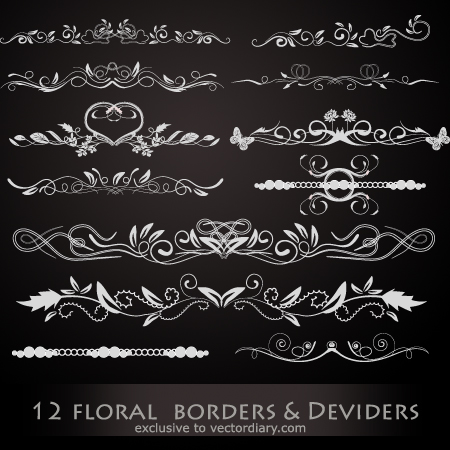 12 Floral Borders Amp Dividers Illustrator Tutorials Tips